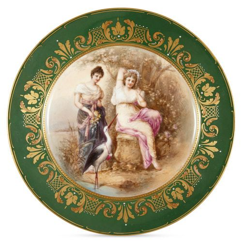Antique porcelain cabinet plate by Royal Vienna