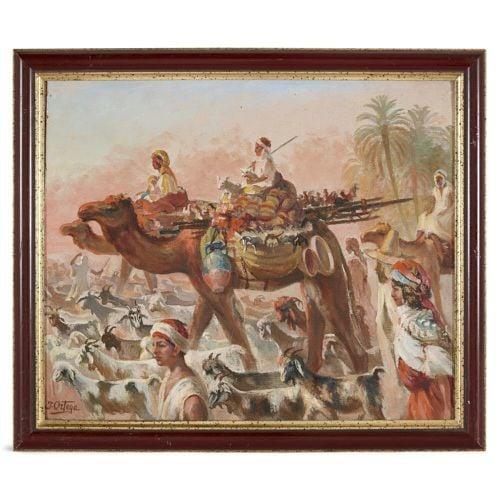 'Desert Bedouin', Spanish Orientalist painting by Ortega