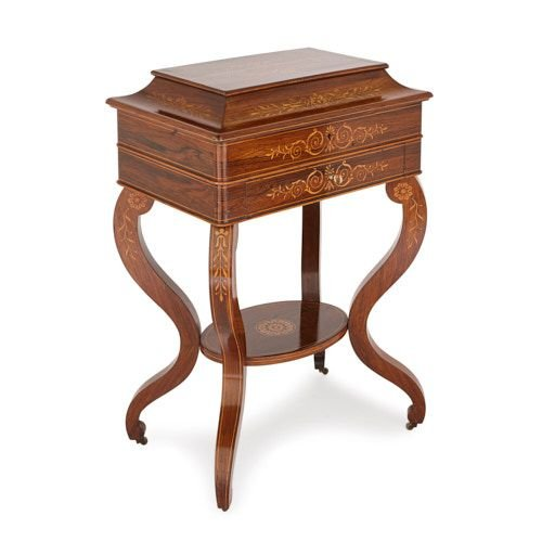 French Charles X period marquetry dressing table cabinet
