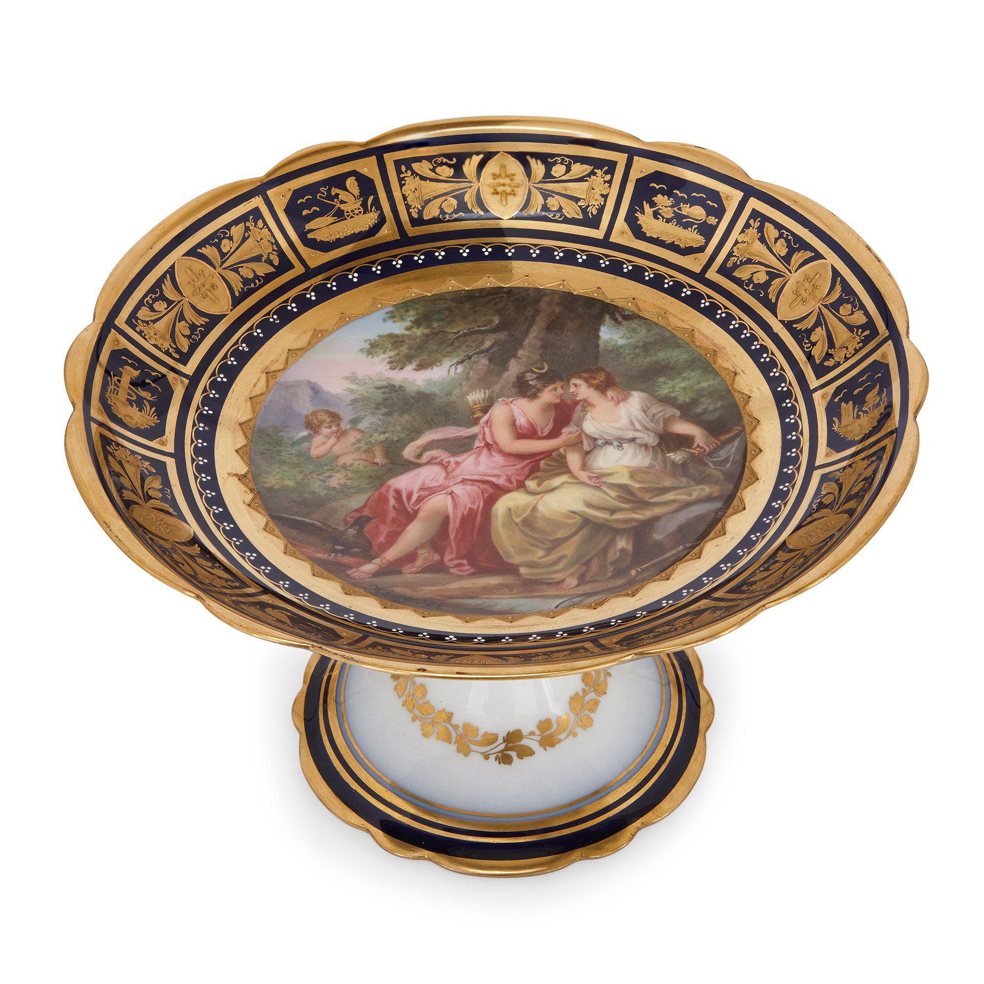 Royal Vienna Porcelain Antique Dessert Service Mayfair