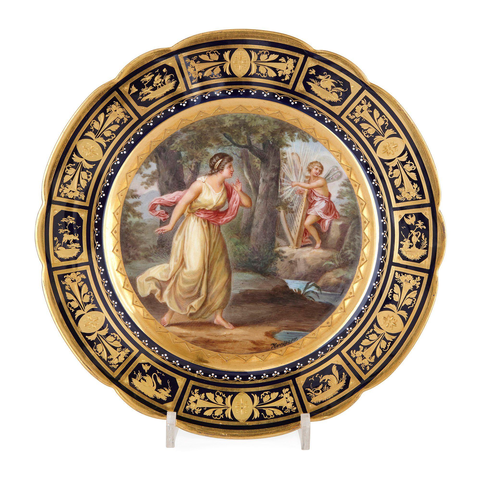 Royal Vienna porcelain antique dessert service | Mayfair