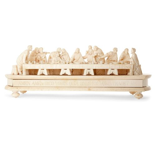Carved ivory group after da Vinci's 'The Last Supper'