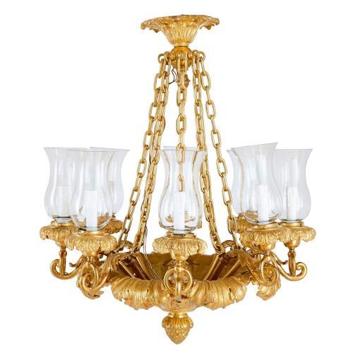 Louis Philippe period ormolu eight-light chandelier