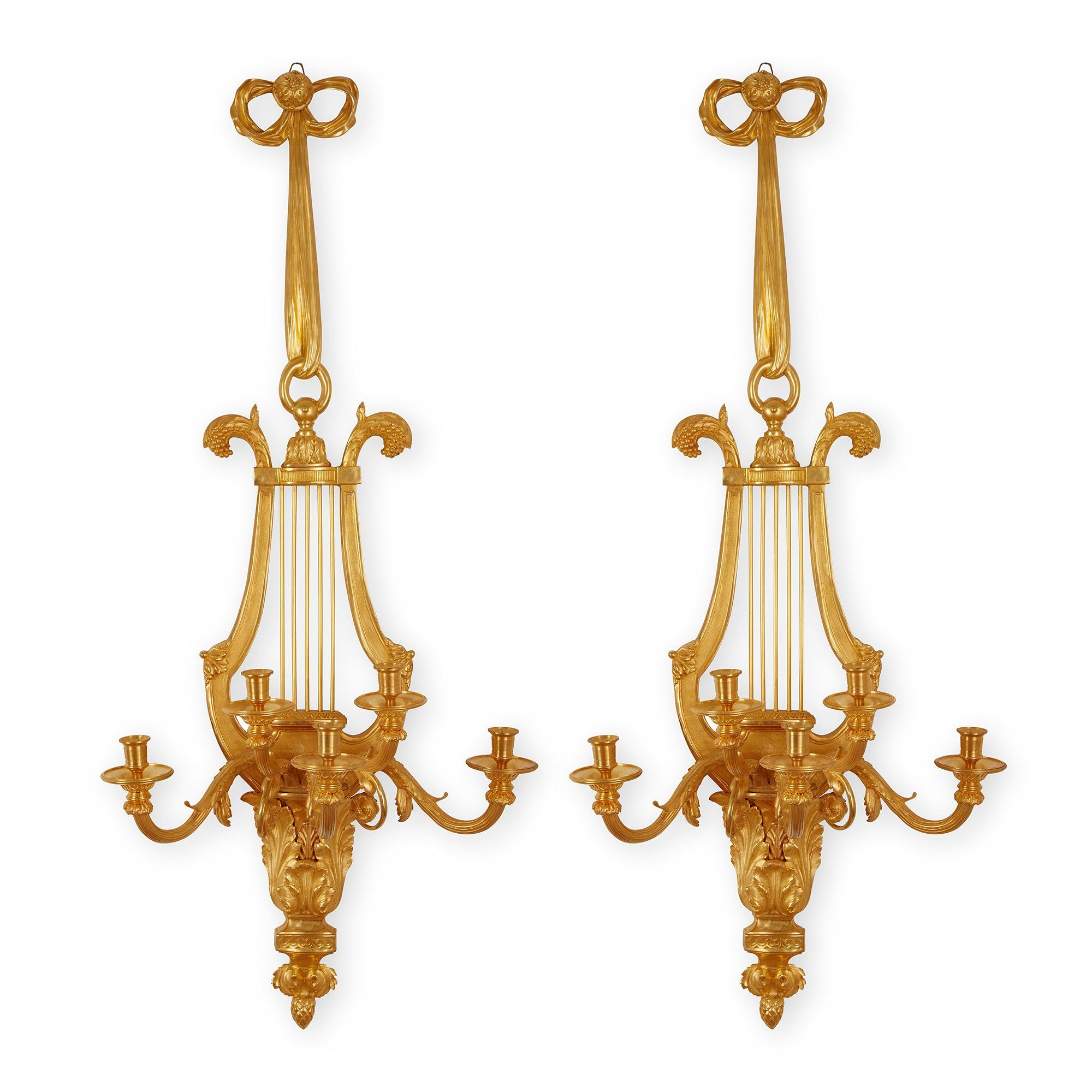 Pair Of French Antique Ormolu Wall Lights Mayfair Gallery