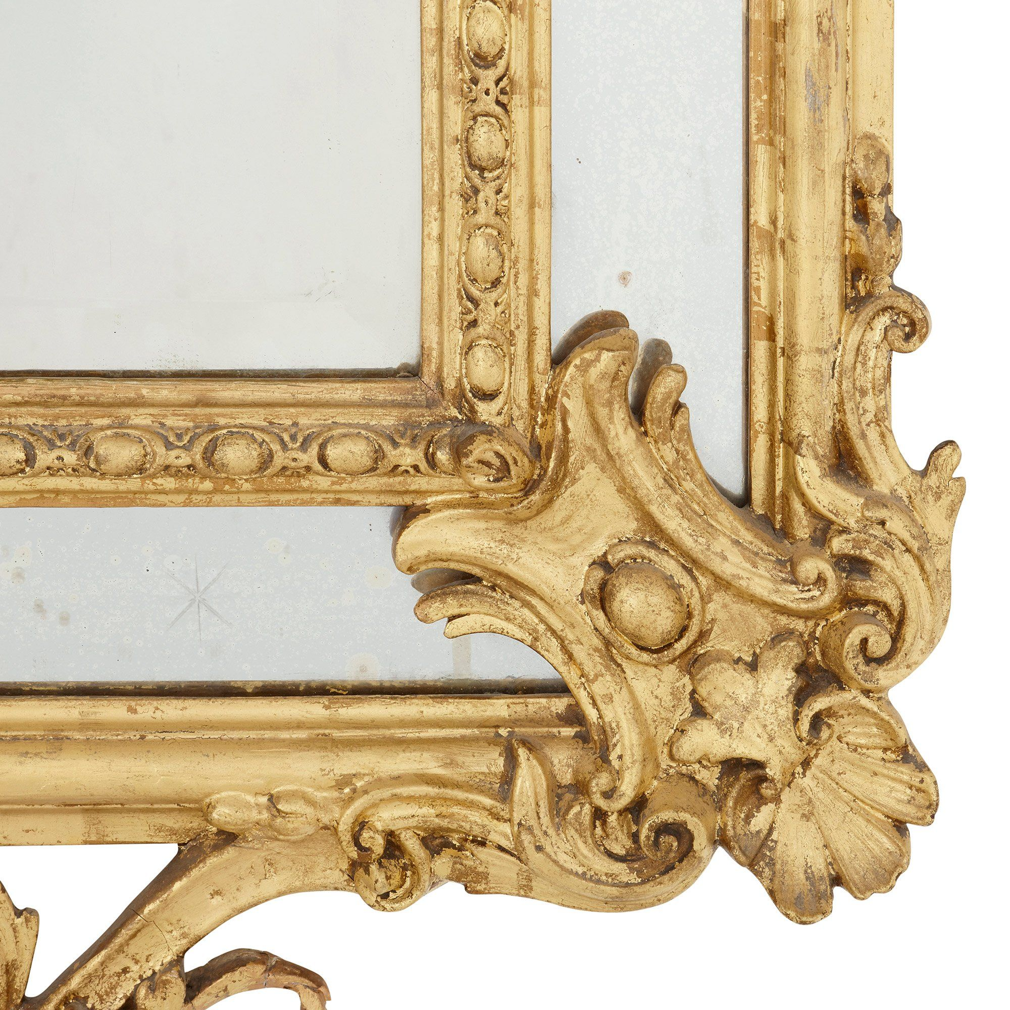 Large Baroque style antique French giltwood framed mirror | Mayfair ...