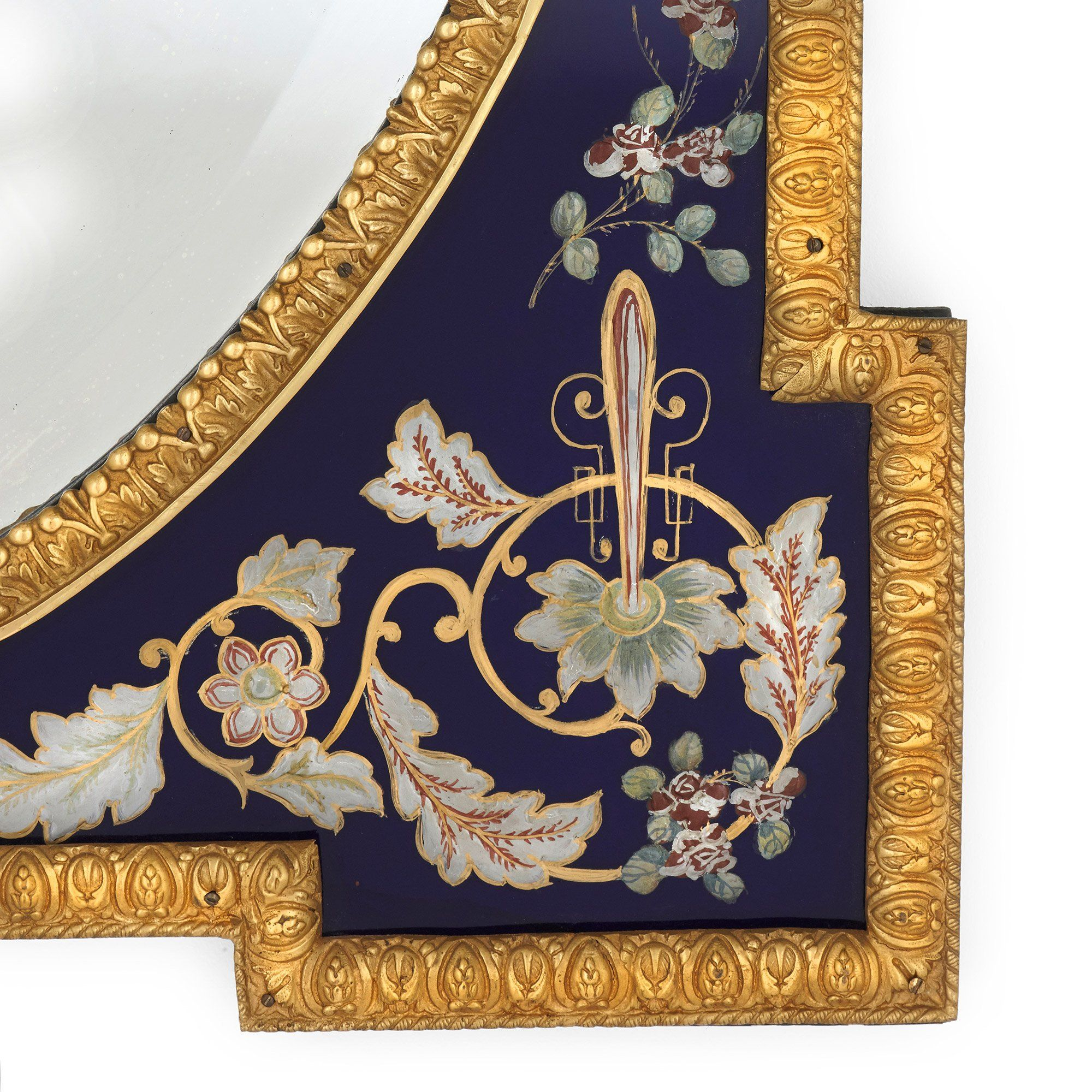 Venetian Coloured Glass And Gilt Bronze Antique Wall