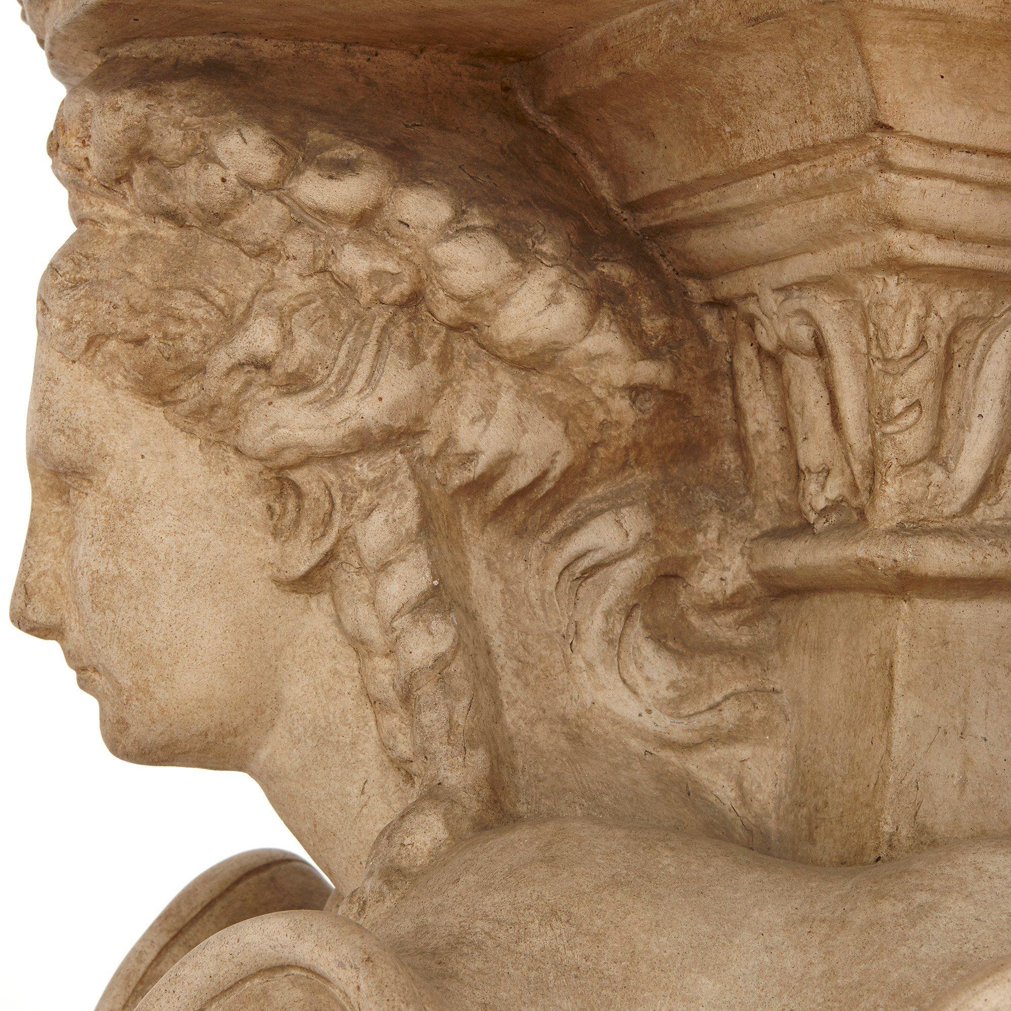 Italian Terracotta Pedestal By Manifattura Di Signa
