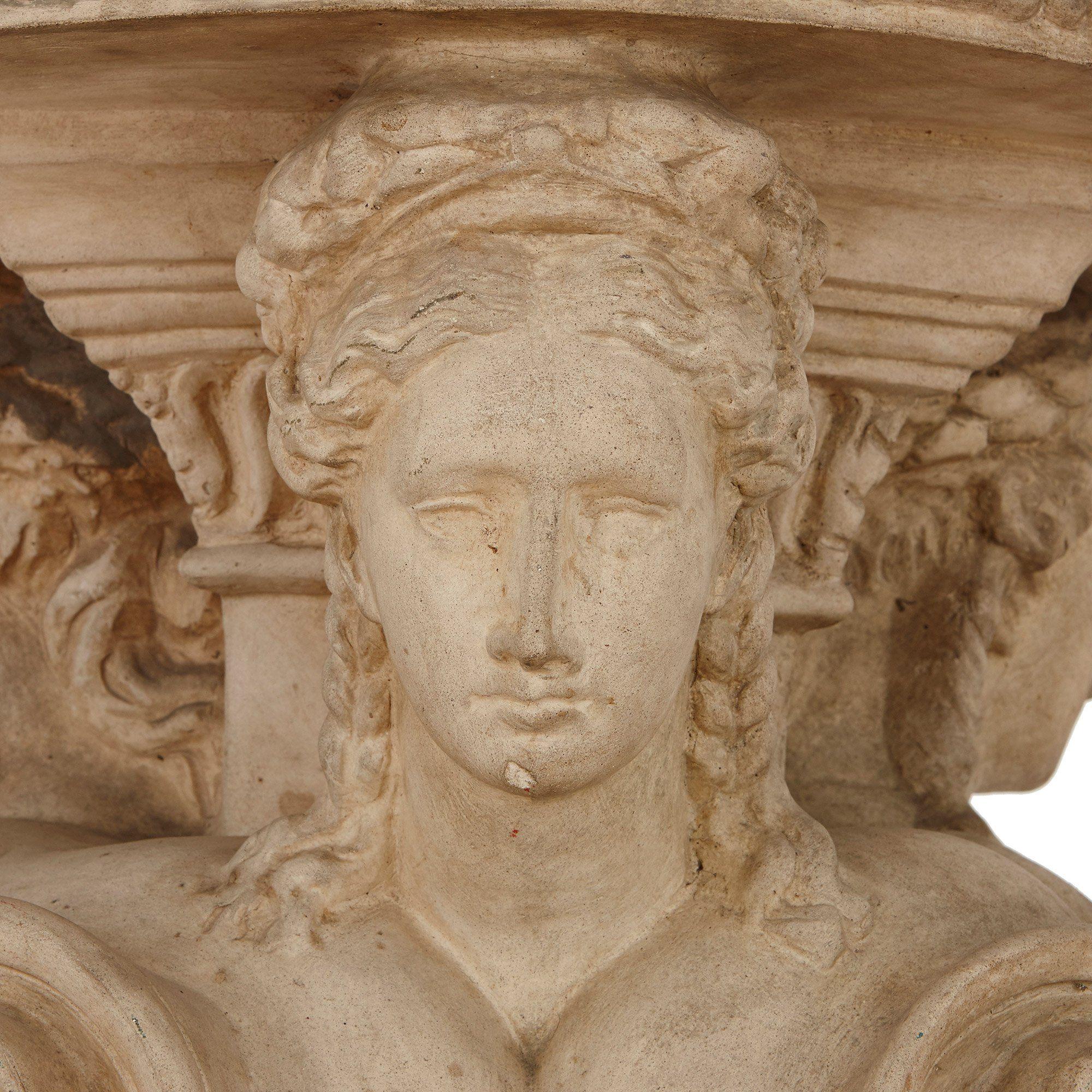 Italian terracotta pedestal by Manifattura di Signa   Mayfair Gallery