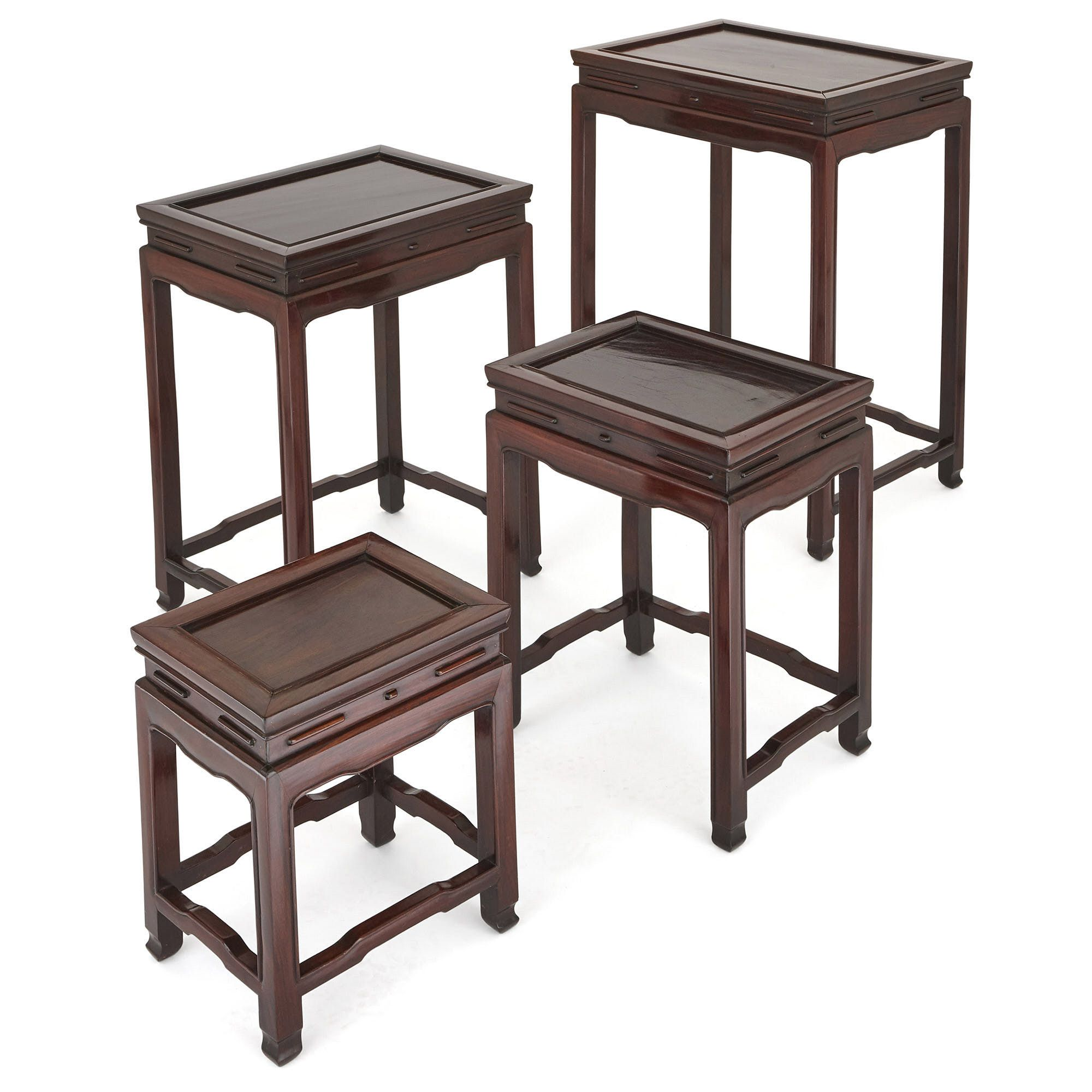 Set Of Four Chinese Rosewood Nesting Tables Mayfair Gallery