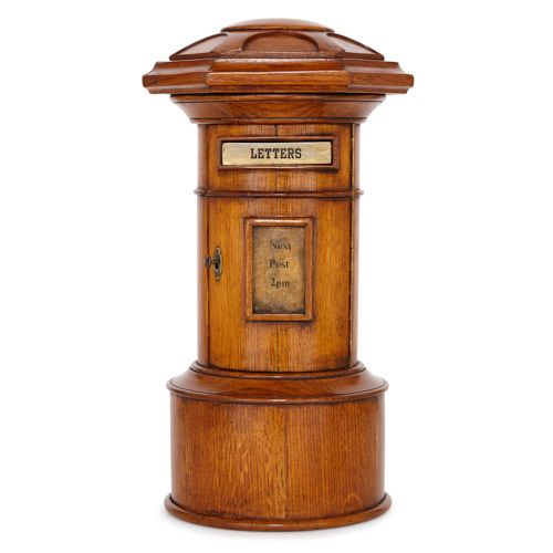 Small oak country house National Standard pillar post box