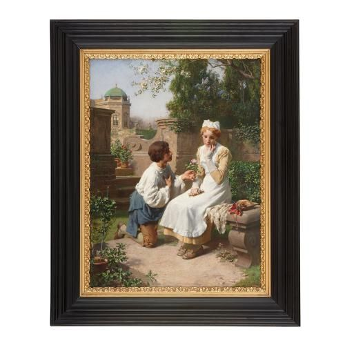 'The Romantic Proposal in the Gardens' painting by Berger