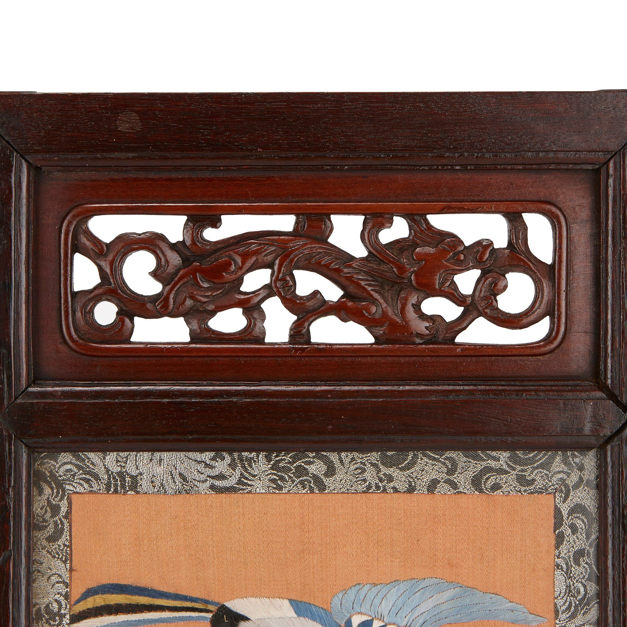 Late Qing Dynasty Antique Chinese Table Screen Mayfair