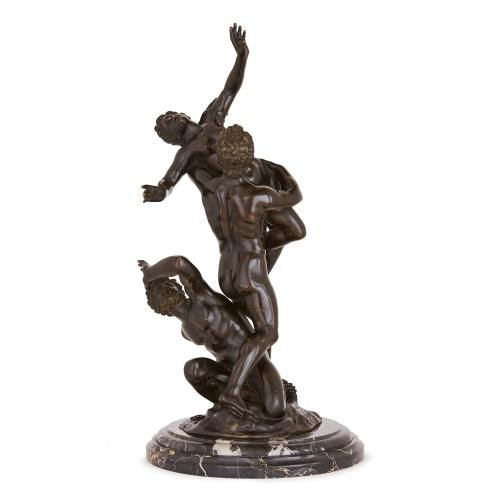 Patinated bronze group, the 'Rape of the Sabine Women'