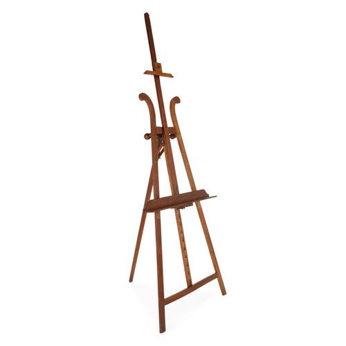 Antique French walnut wood artist's easel