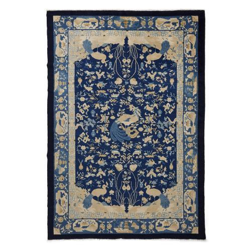 Woven wool antique Peking carpet