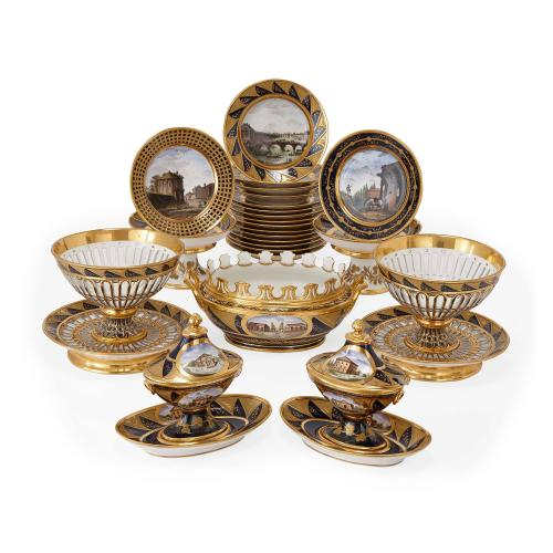 Twenty-four piece Darte Frères porcelain dinner service