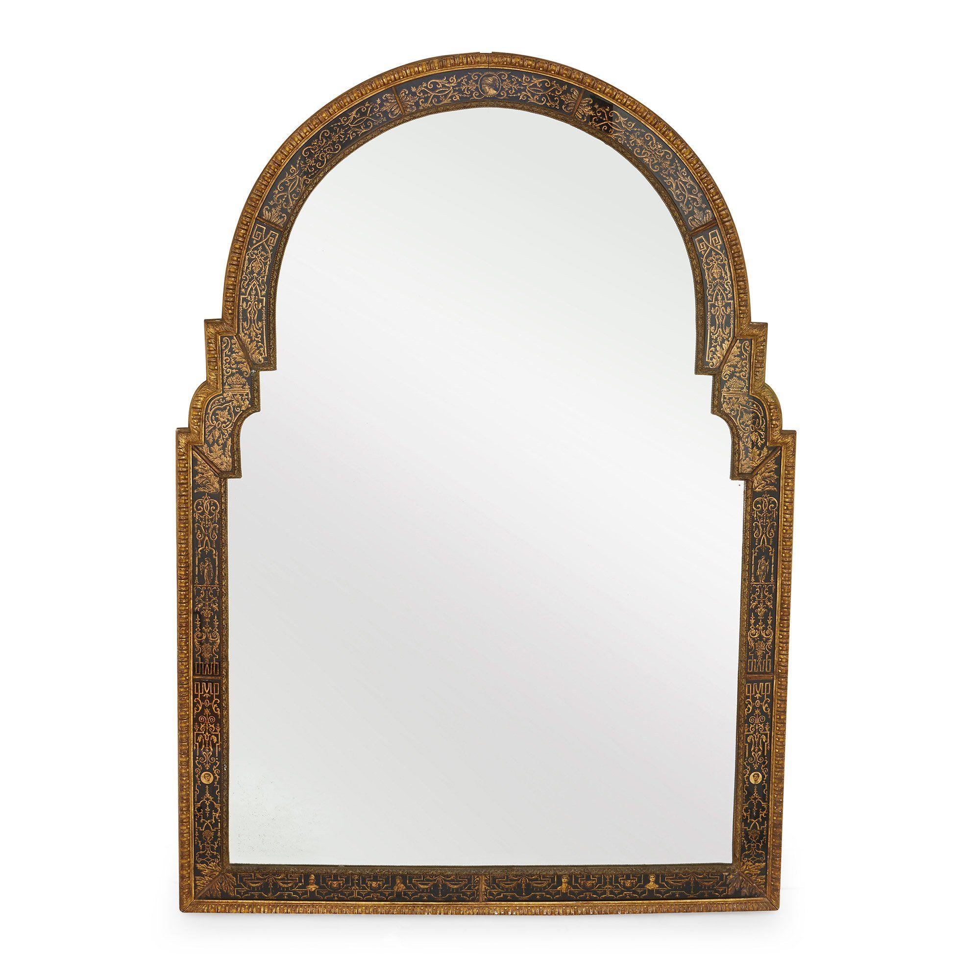 Italian Giltwood Louis Xiv Style Antique Mirror Mayfair