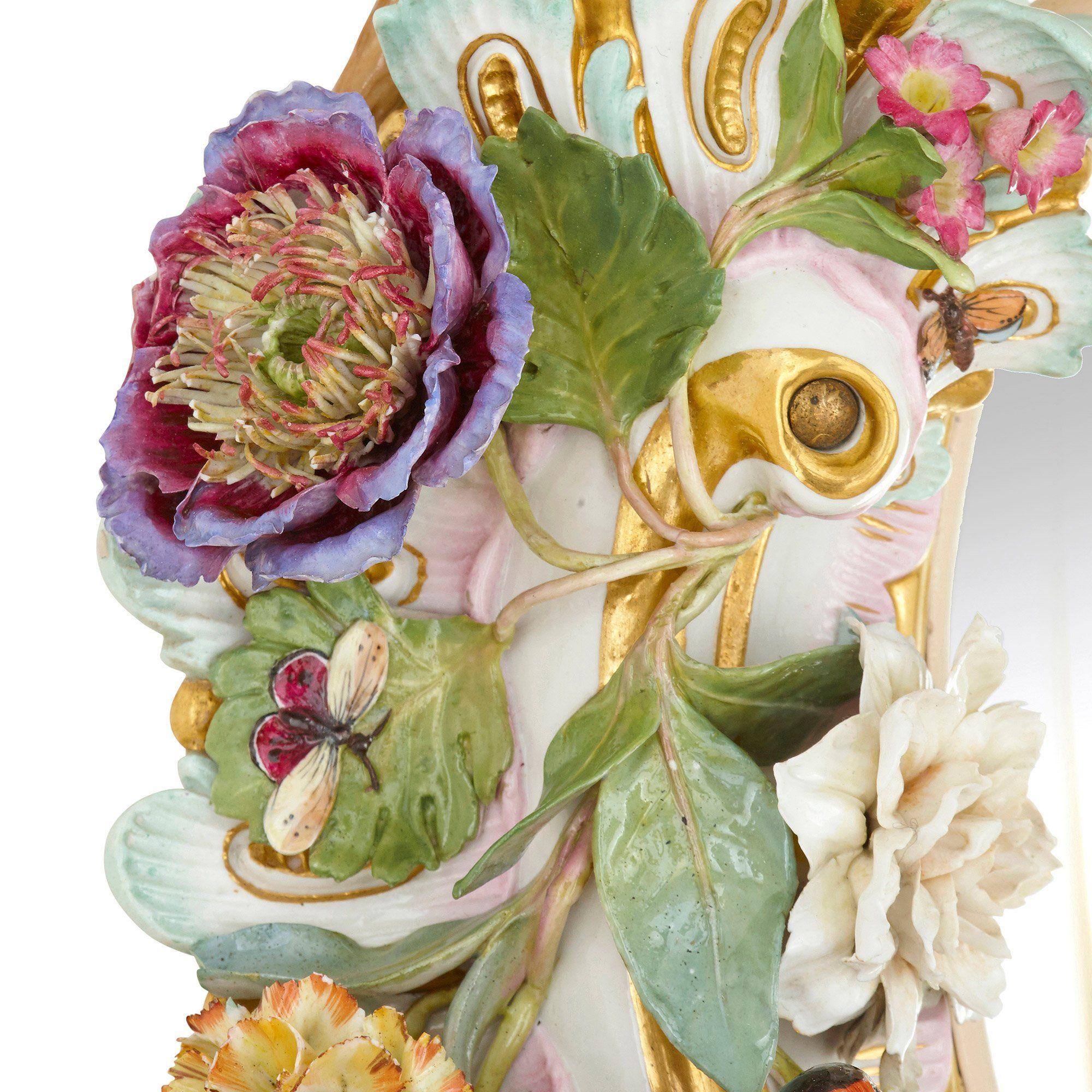 Large Antique Meissen Porcelain Mirror Mayfair Gallery