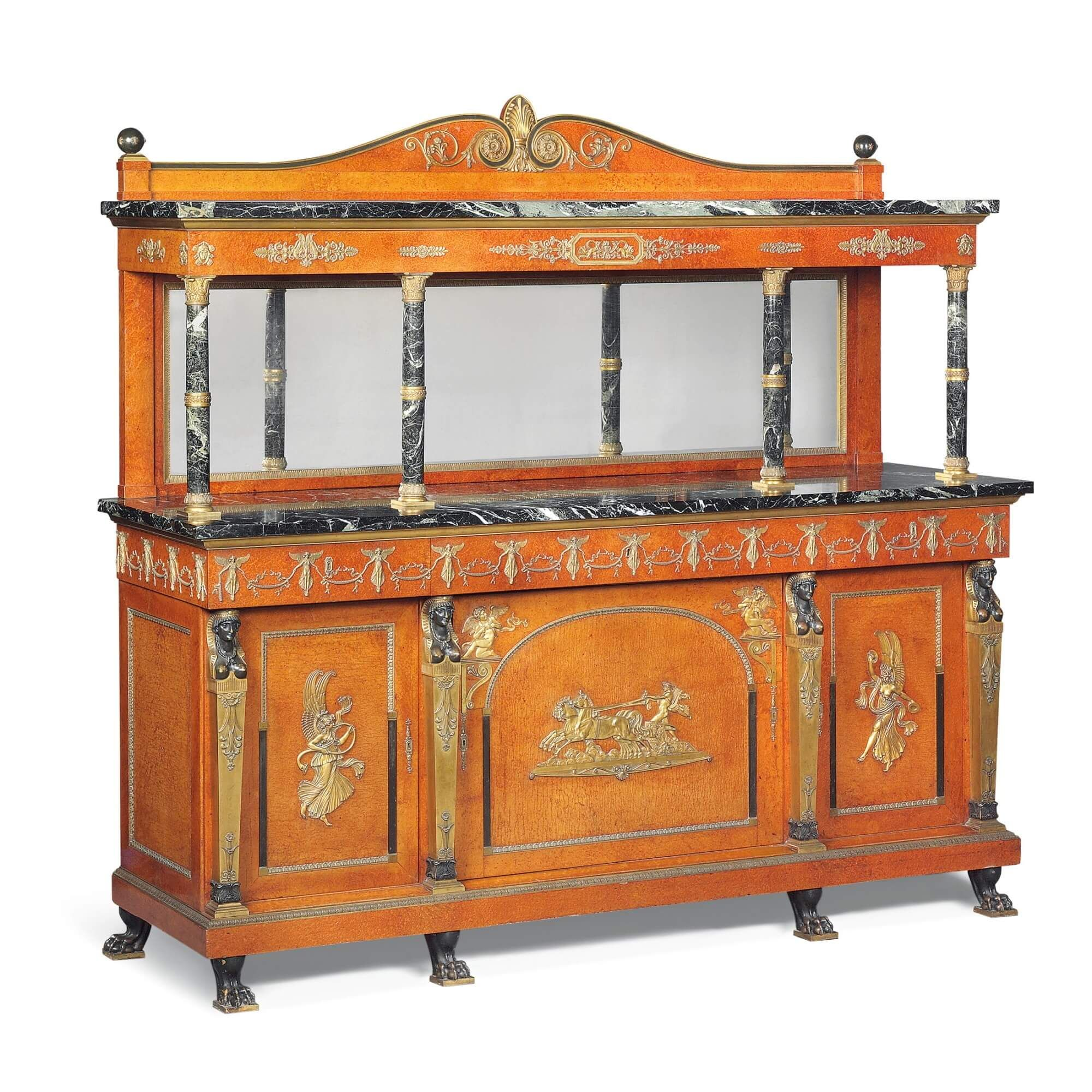 Picture of: Very Large Empire Style Sideboard Buffet Cabinet By Krieger Mayfair Gallery