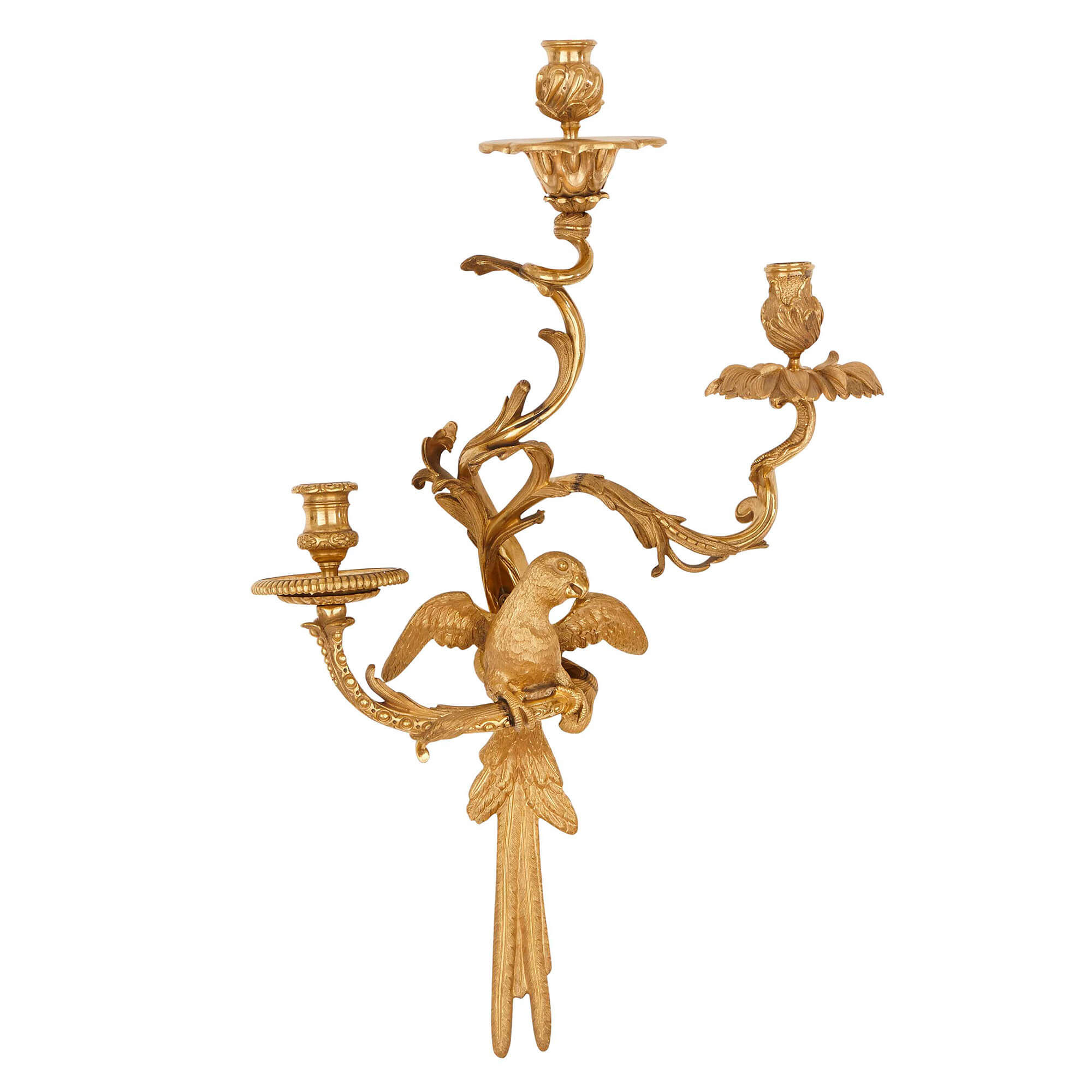 Pair of rococo style ormolu wall lights after cressent mayfair gallery pair of rococo style ormolu wall lights after cressent aloadofball Gallery