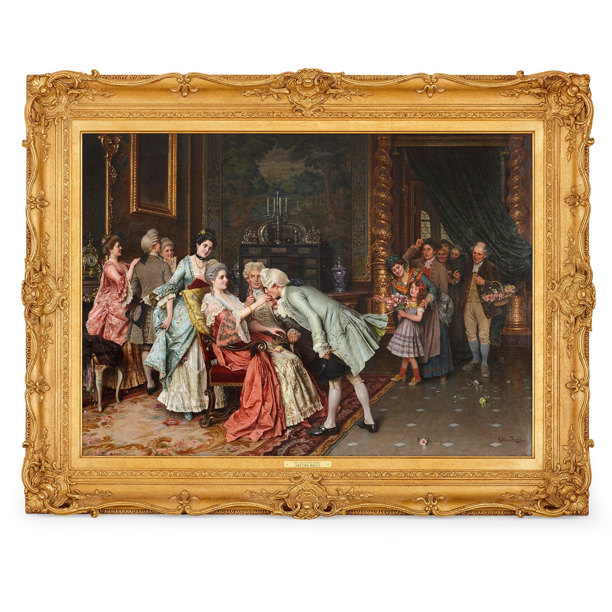 The Successful Suitor 19th Century Oil Painting By