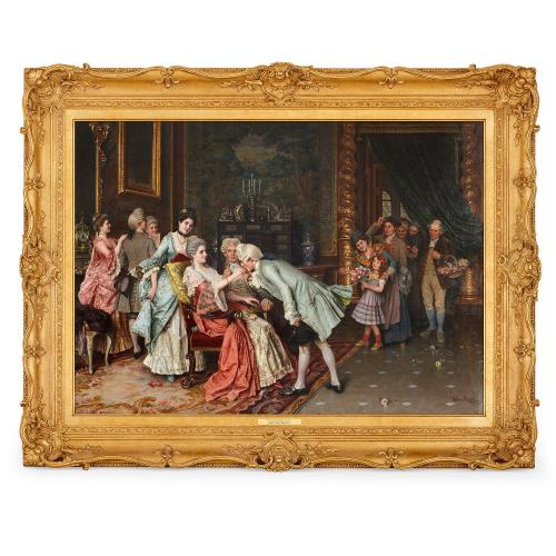 'The Successful Suitor', 19th Century oil painting by Ricci