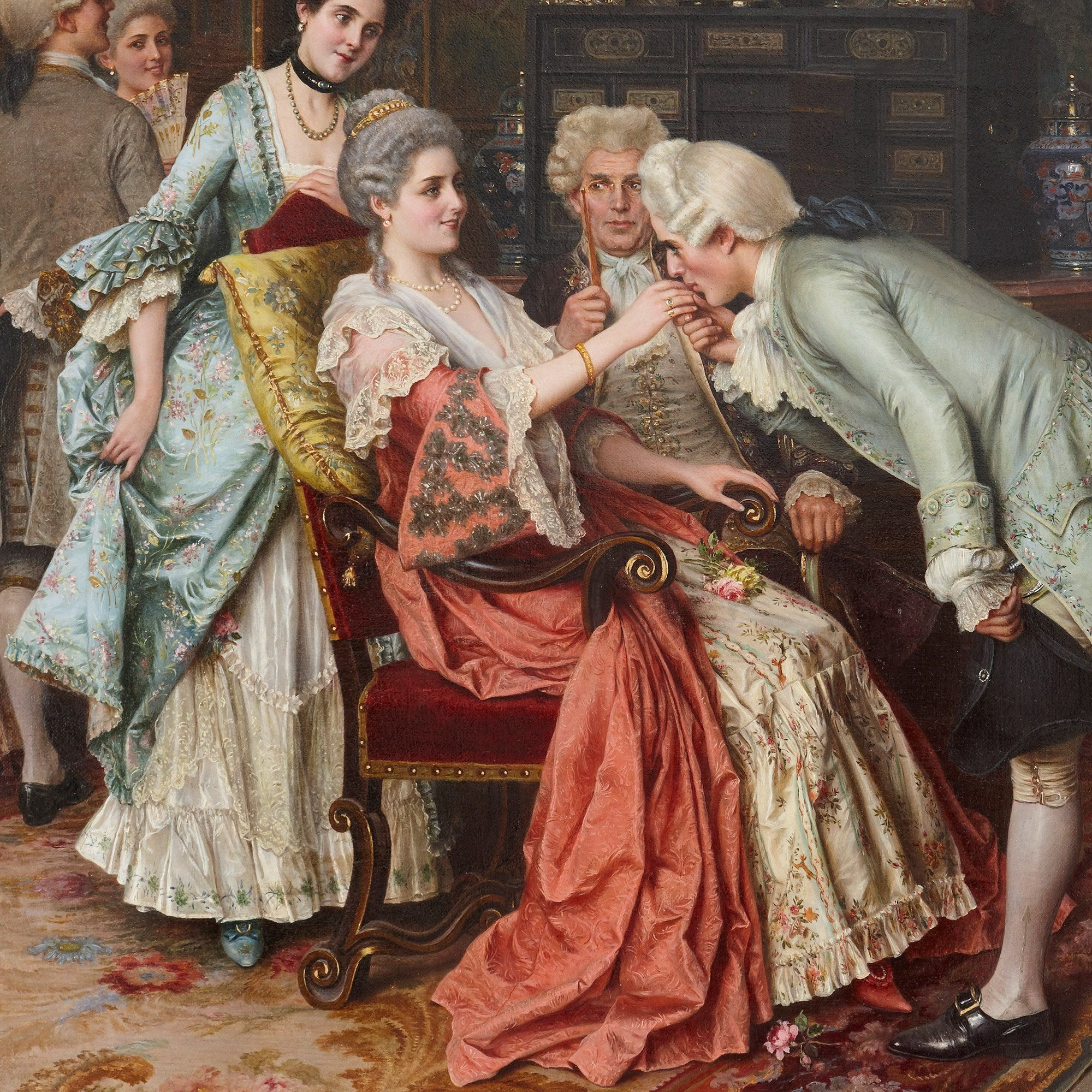 The Successful Suitor 19th Century Oil Painting By Ricci Mayfair Gallery