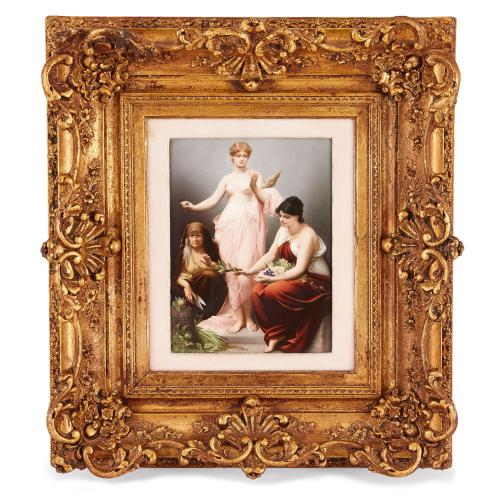 19th Century KPM porcelain plaque of The Three Fates