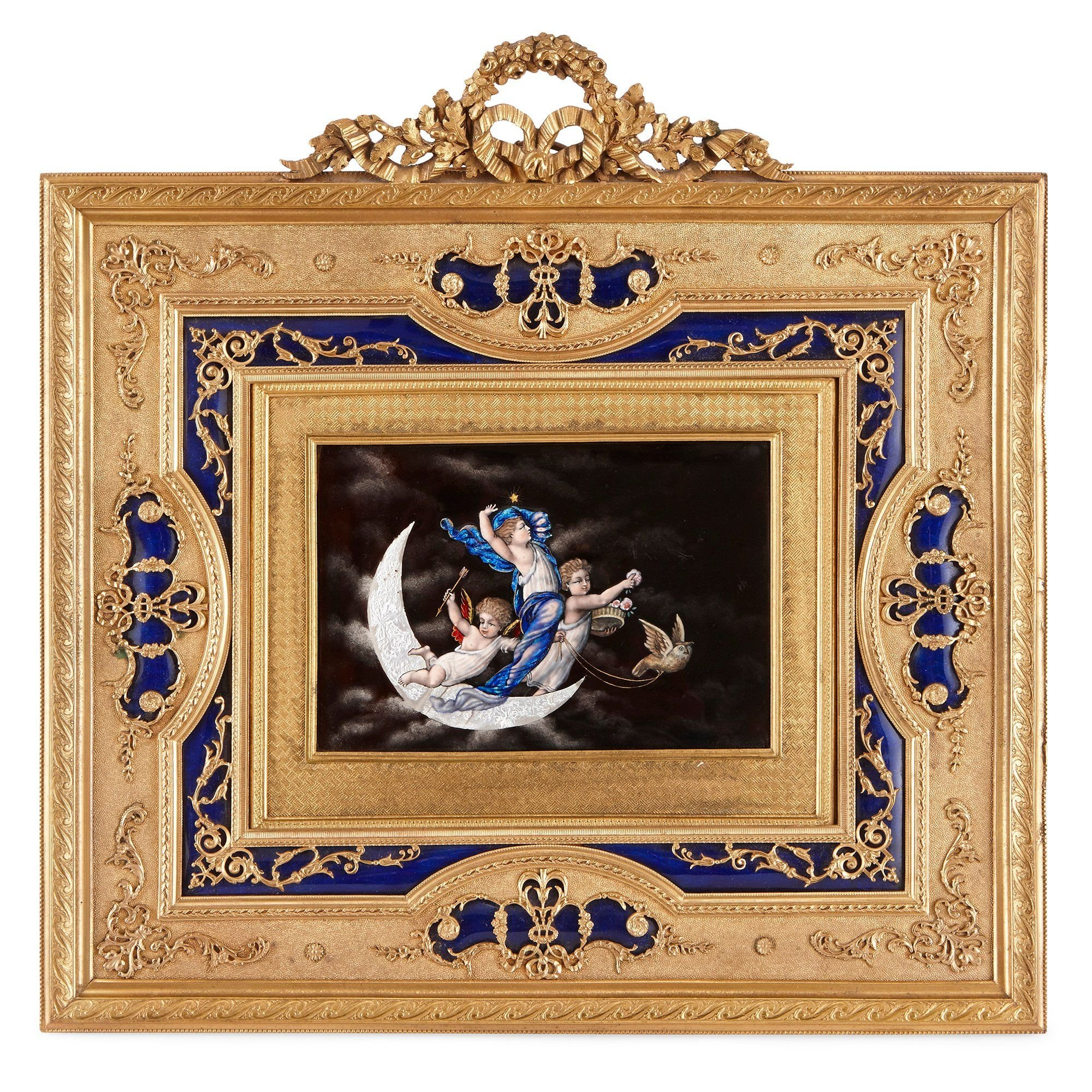Antique Limoges Enamel Plaque In Gilt Bronze Frame Mayfair Gallery