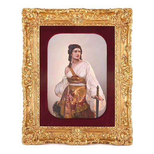 'Judith', large antique KPM porcelain plaque after Riedel