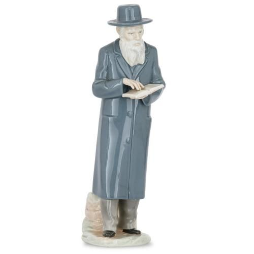 Antique European porcelain figure of a Jewish Rabbi