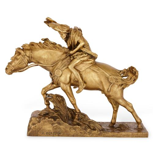Ormolu sculpture 'Caesar crossing the Rubicon' by Gerome