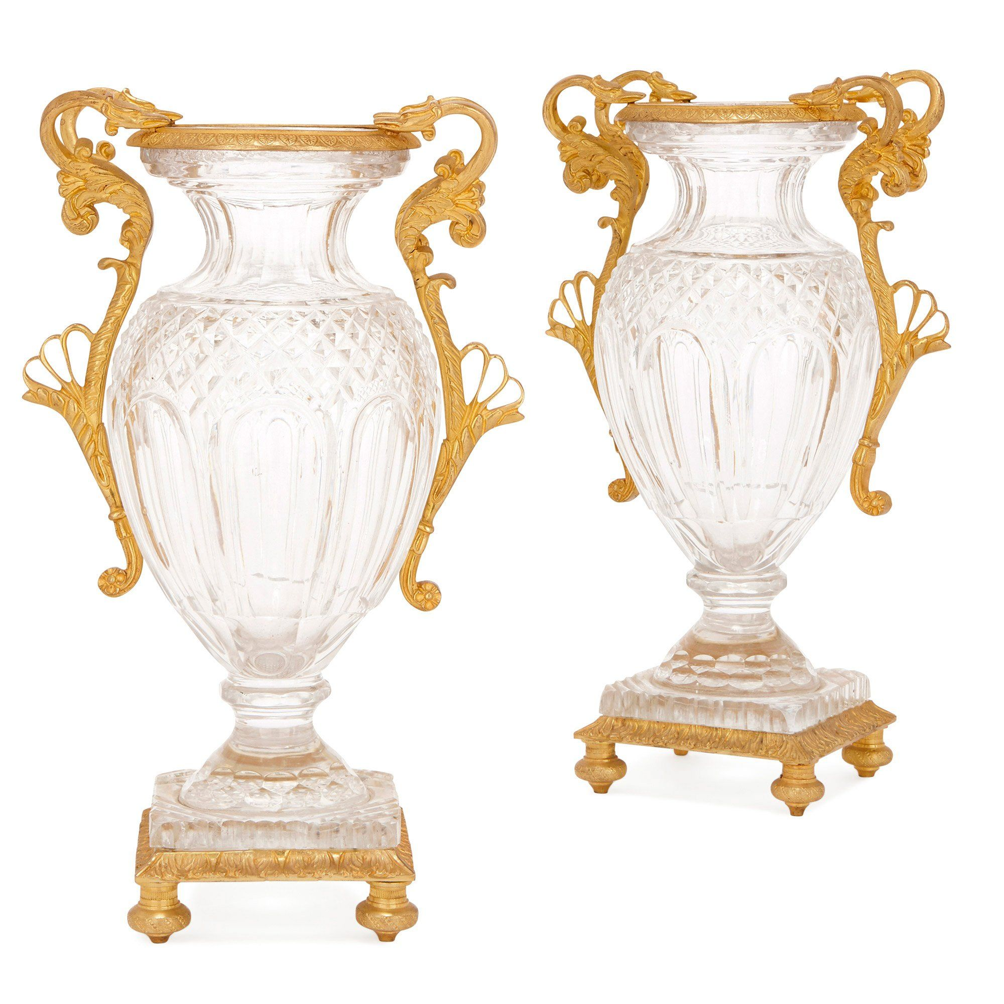 Pair Of French Antique Ormolu Mounted