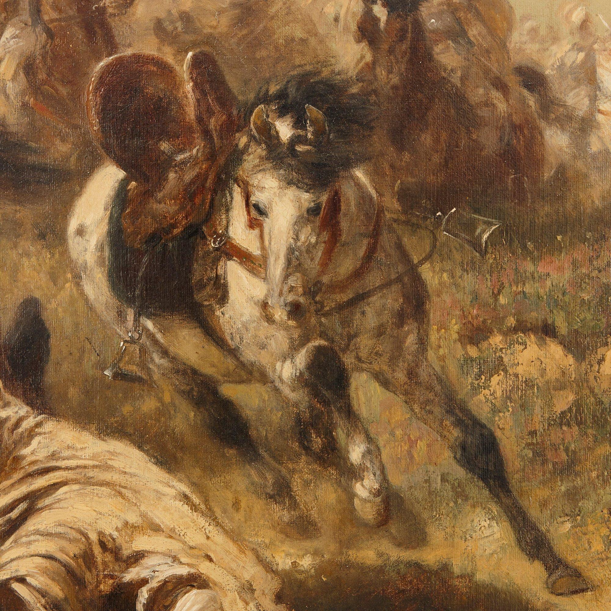 Arab Cavalry In Retreat Oil Painting By Adolf Schreyer Mayfair Gallery