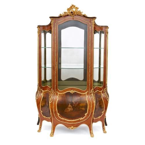 Louis XV style ormolu and Vernis Martin vitrine cabinet | Mayfair ...