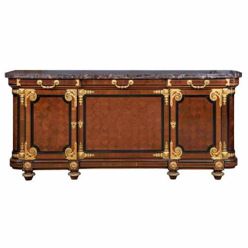 Ormolu and mahogany buffet cabinet, attributed to Mercier Frères