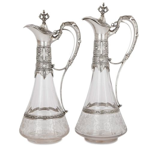 Two silver and crystal decanters by Koch & Bergfeld