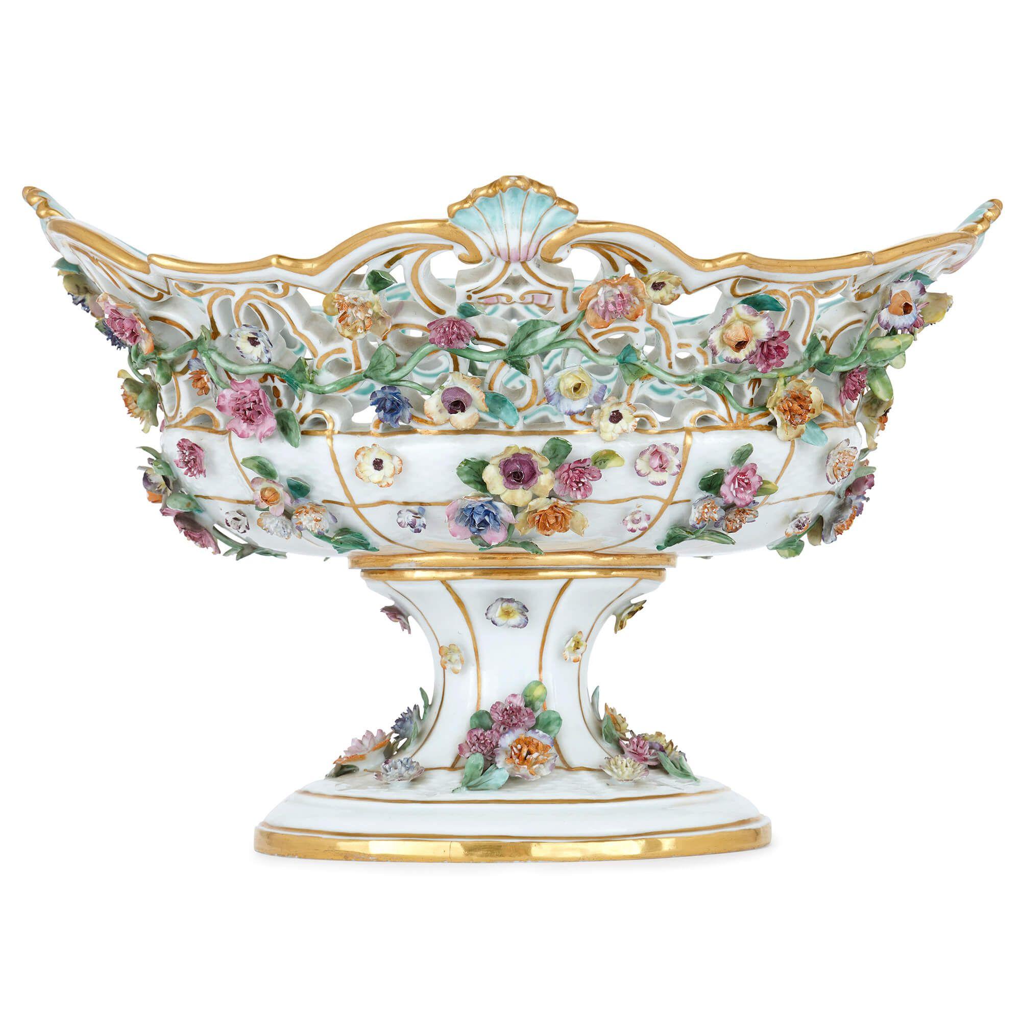 19th Century German Meissen porcelain fruit bowl | Mayfair