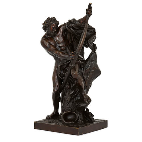 Antique French bronze figure of Ulysses after Bousseau