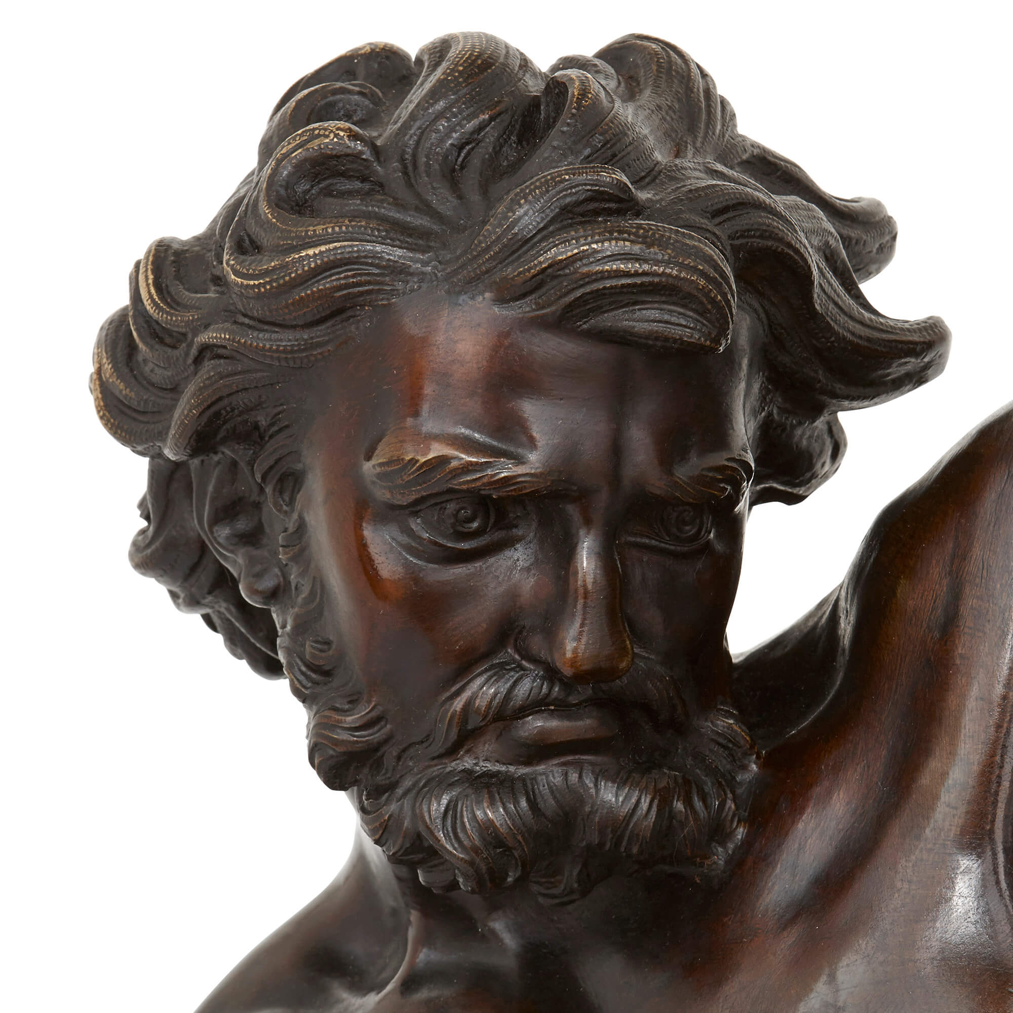 Antique French bronze figure of Ulysses after Bousseau | Mayfair Gallery
