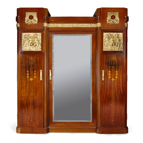 Marquetry and ormolu Aesthetic Movement wardrobe