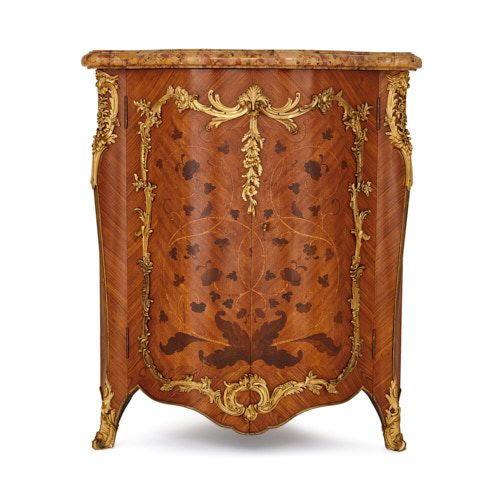 Ormolu mounted marquetry corner cabinet by Durand