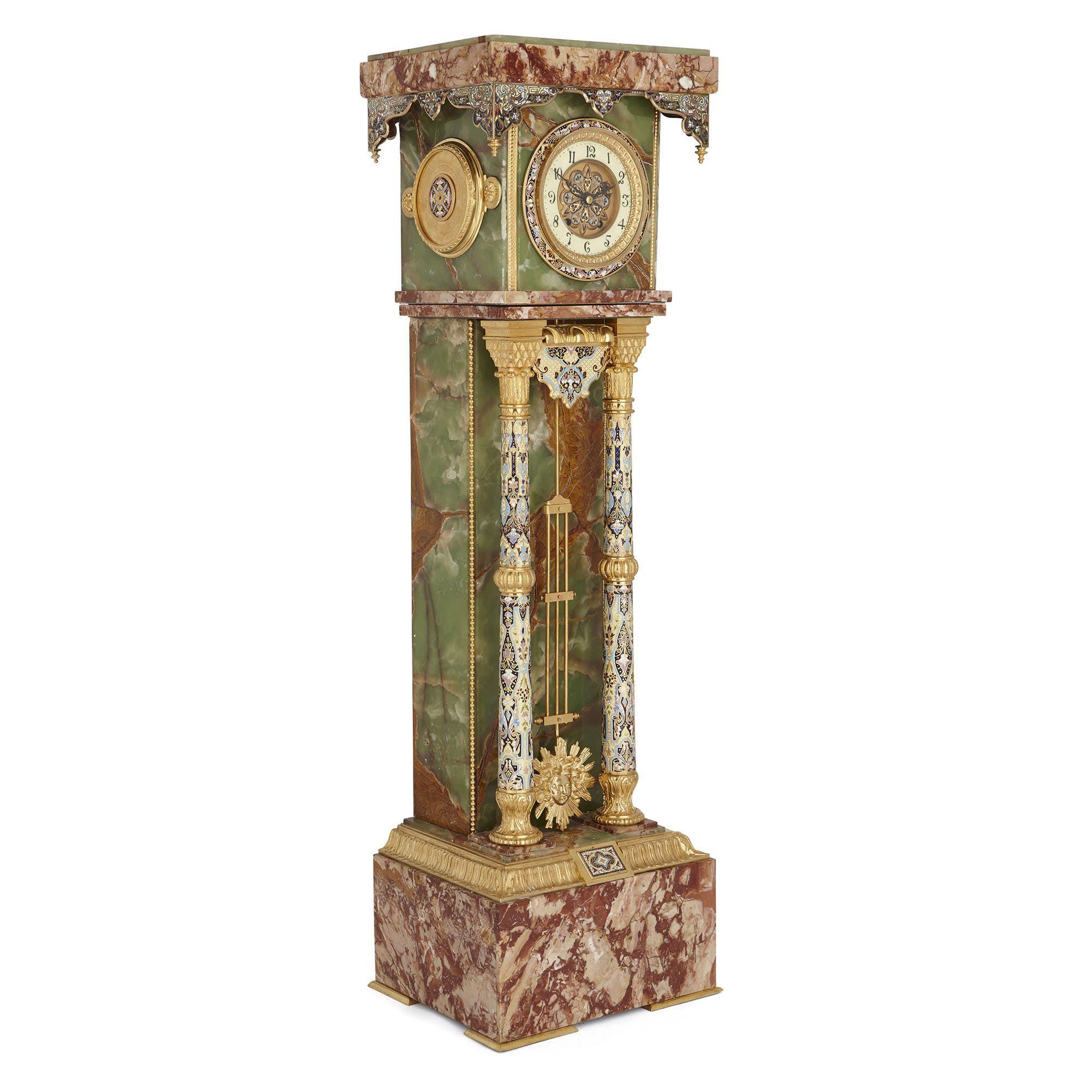Dating longcase clock dials and bezels