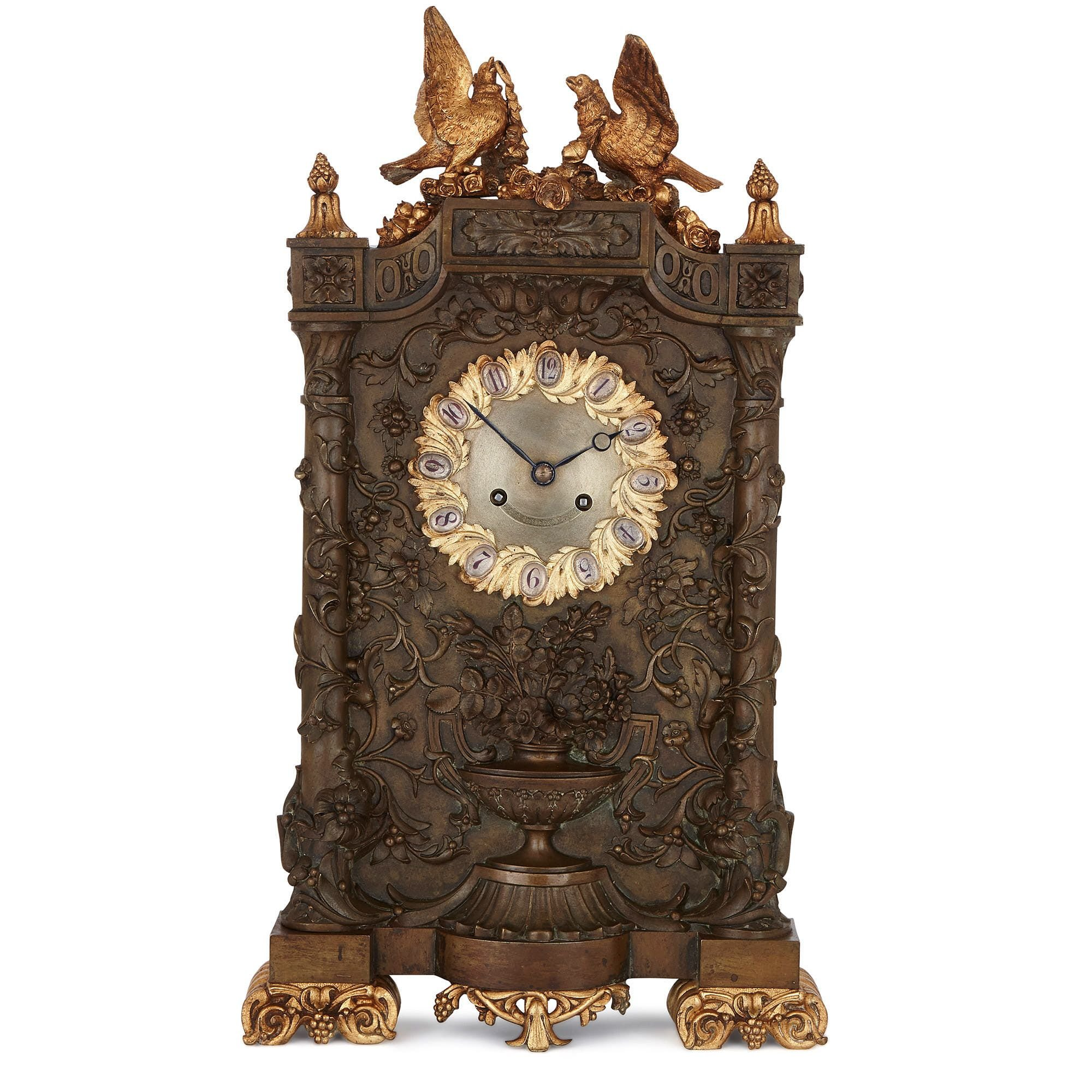 Antique Gilt And Patinated Bronze