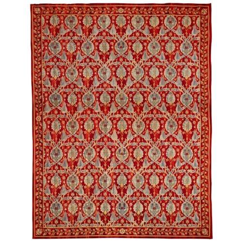 Large Arts and Crafts Moorish style needlework panel