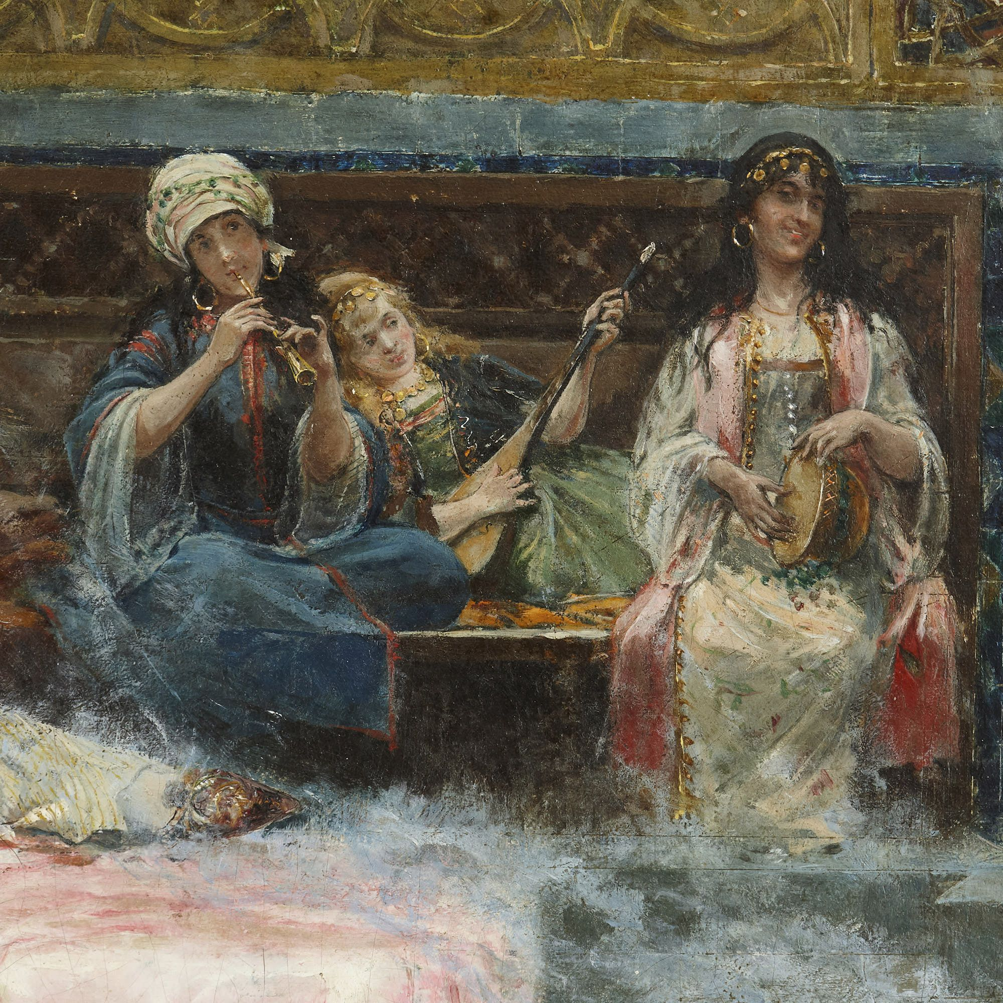 In The Harem Orientalist Oil Painting By Gim 233 Nez Mart 237 N