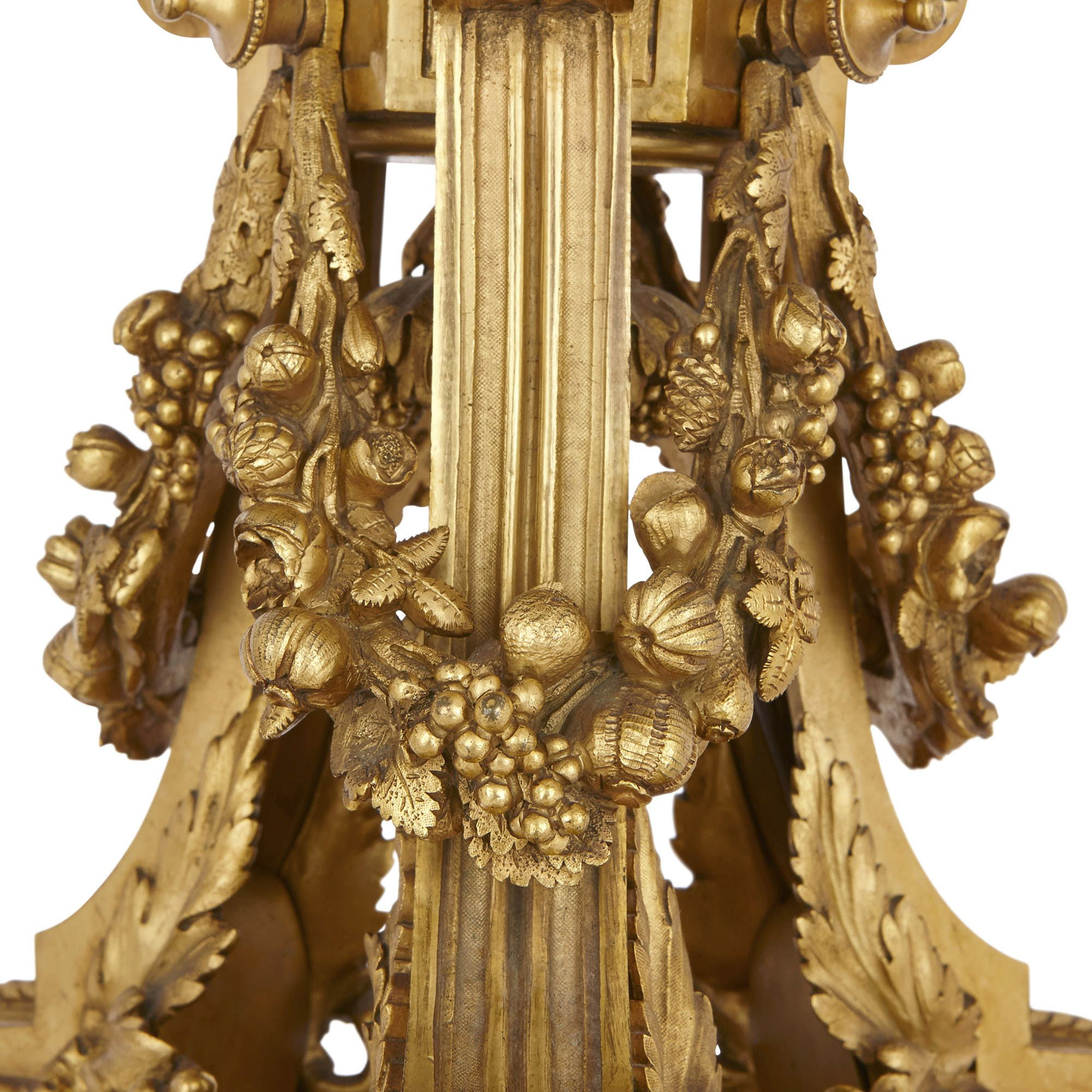 Pair Of French 19th Century Ormolu And White Marble Lamps