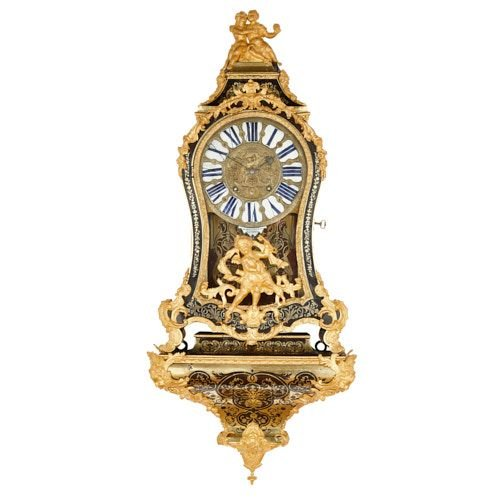 Large ormolu mounted Boulle bracket clock by Brezagez and Marchand