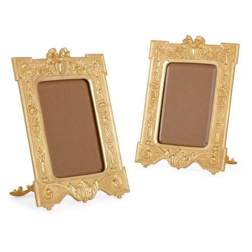 Pair of Neoclassical style ormolu frames