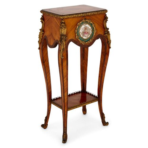 Ormolu and porcelain mounted Victorian period side table